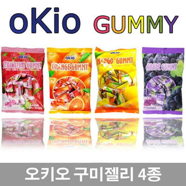 okio 과일맛구미6종/젤리/오렌지/딸기/포도/망고 상품이미지