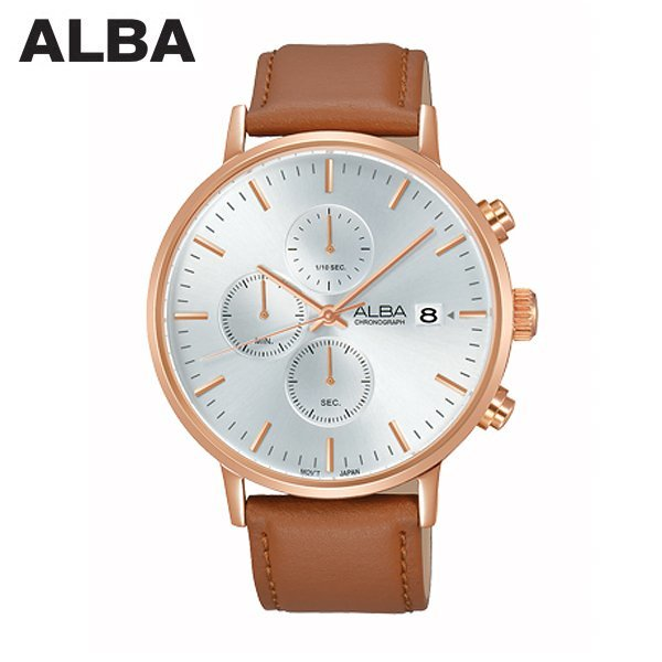 ALBA 세이코알바 AM3356X1 남성용 가죽 시계 상품이미지