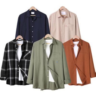 Long sleeve shirt men shirt Henley neck striped shirt men cotton pants