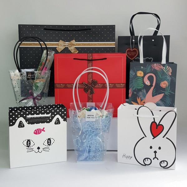 다양한 선물용 쇼핑백 모음전 (대 중 소) 종이가방 상품이미지