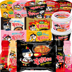 SAMYANG Buldak Fried Noodles x 10packs Ramen Cup noodles Carbo Cheese Jjajang(Chinese black noodles)