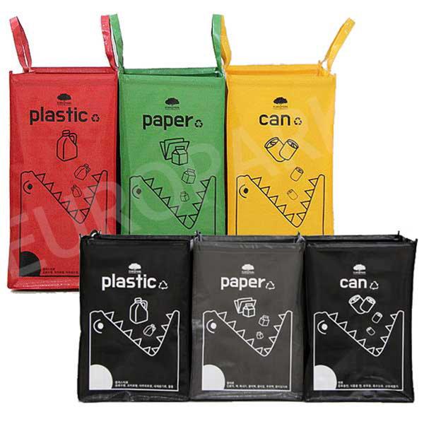크릉이 블랙 분리수거함 3P 쓰레기 재활용 분리수거 상품이미지