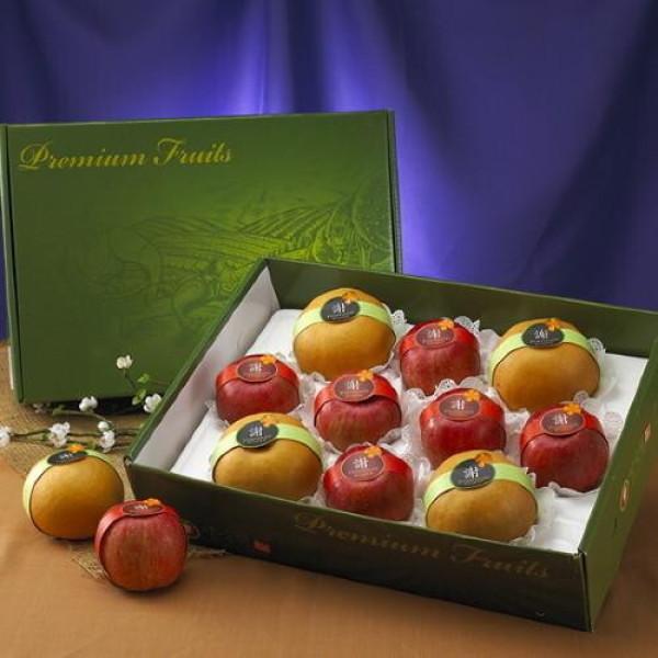 우리존농산 프리미엄 사과+배 혼합세트6.2kg(특왕대 사과6+배4과내외)/황금보자기 상품이미지
