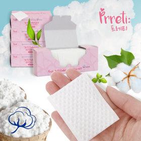 프레티 소프트 엠보코튼 화장솜 500매/1000매/순면100