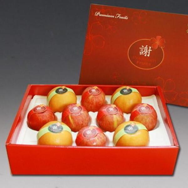 實낙원 프리미엄 사과+배 혼합세트 5.5kg(특대 사과6+배4과내외)/황금보자기 럭셔리포장 프리미엄과일 상품이미지