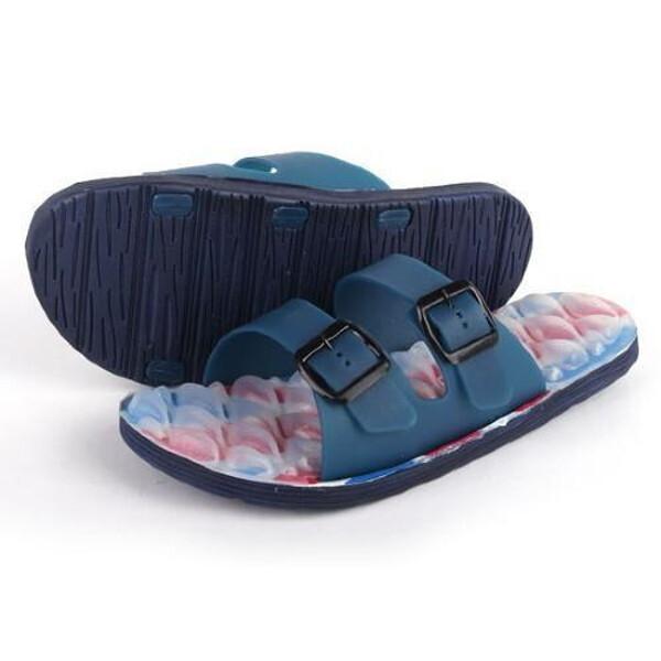 끈적이지 않는 에어 엠보싱 슬리퍼 성인 남성 네이비  캠핑/여행/여름신발/아쿠아/수영장/커플/가족/신발 상품이미지