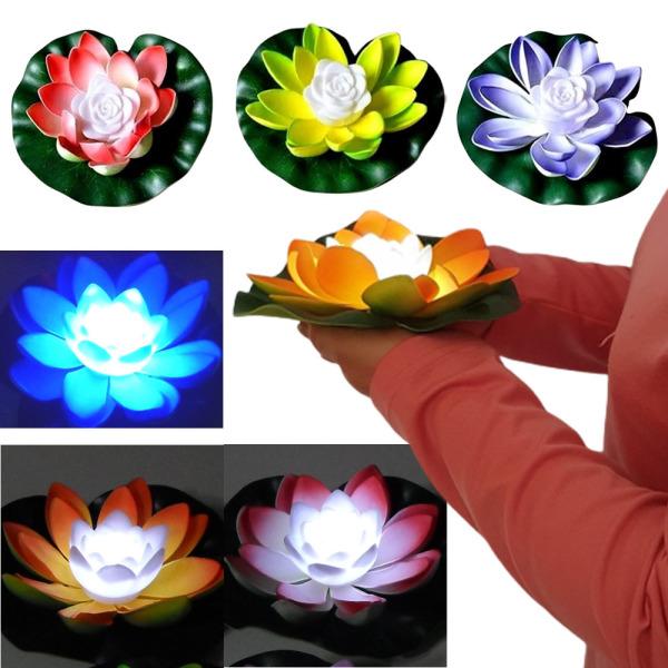 LED연등 연꽃 연꽃등 물에뜨는 유등 풍등 소망 소원등 상품이미지