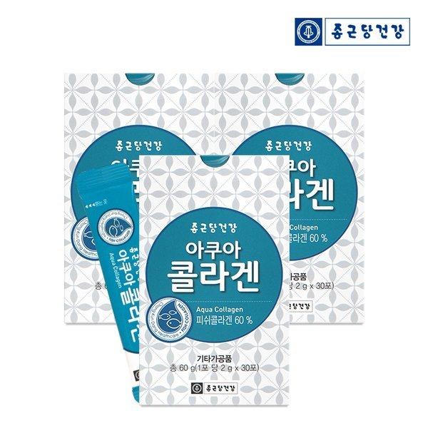 종근당건강  아쿠아 콜라겐 (30포) -3박스 상품이미지