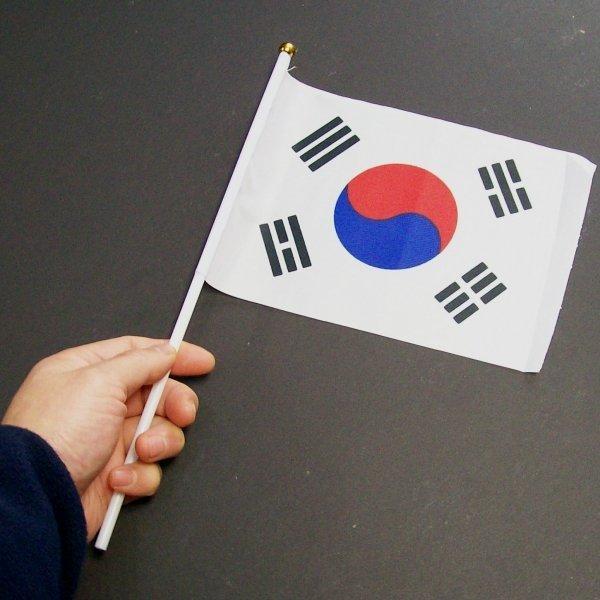 미니 손태극기 1개-수기 국기 천태극기 해외여행 용품 상품이미지