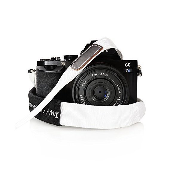 해외쇼핑/Foto Tech Padded Neck Shoulder Strap with WHITE Grosgrain Ties for Fujifilm Samsung Sony Ol 상품이미지