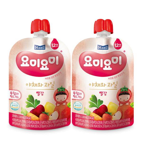 요미요미 야채와과일 빨강 100ml 24팩/주스 상품이미지