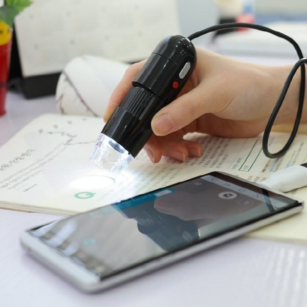 스마트폰 USB현미경 200배 LED 핸드폰 어린이 휴대용 상품이미지