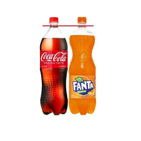 코카콜라 코카콜라1.5L+환타오렌지1.5L  .. 상품이미지