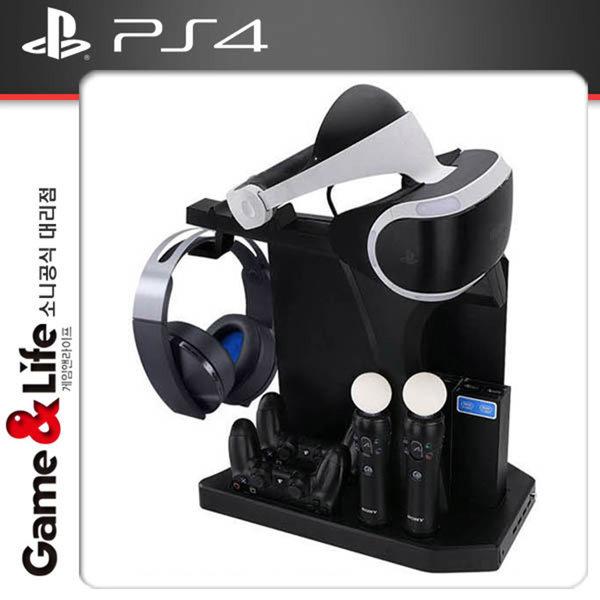 PS4 본체 신형 프로 VR 멀티 충전거치대 / 충전스탠드 상품이미지