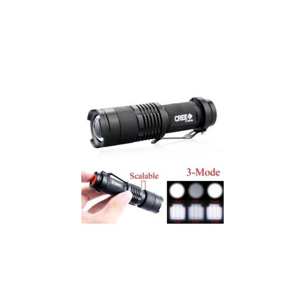 랜턴/손전등/CREE Q5 2000루멘/방수 LED 손전등 AA 상품이미지