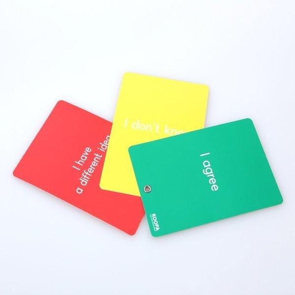 쿠퍼실리테이션 교육도구-신호등카드(개인형/모둠형) 상품이미지