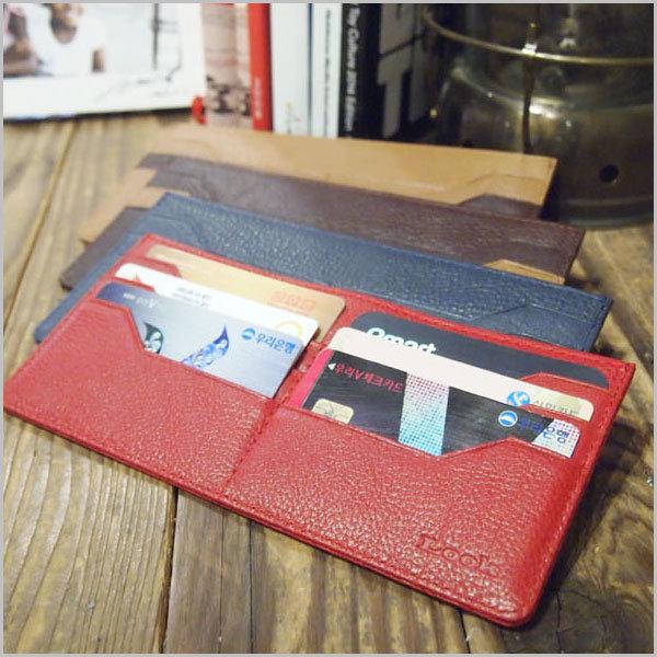 룩 다코타워싱 슬림 장지갑 수제 천연가죽 동전 카드 상품이미지