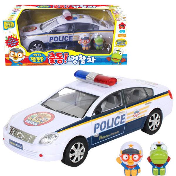 뽀롱뽀롱 뽀로로 출동 경찰차 크롱 피규어 자동차 상품이미지