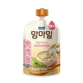 (묶음할인)매일유업_맘마밀안심이유식아스파라거스와닭가슴살12개월_100G