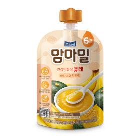 (묶음할인)매일유업_맘마밀안심이유식퓨레바나나와단호박6개월_100G