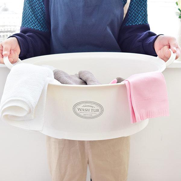 일본완제품 이노마타 화이트 WASH-TUB 바스켓 상품이미지