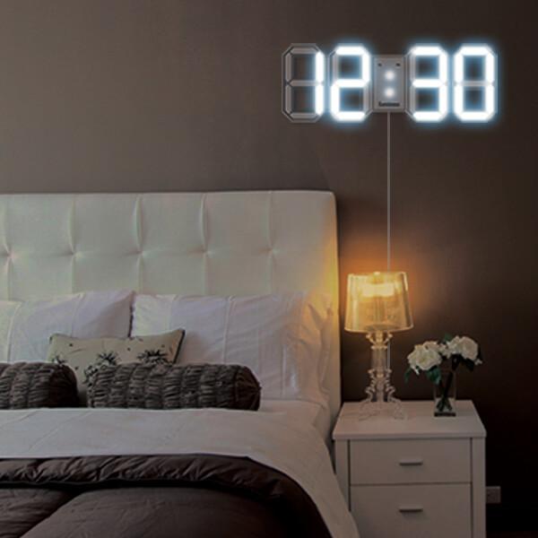 루미너스 인테리어 벽걸이 특대형 LED 벽시계 화이트 상품이미지