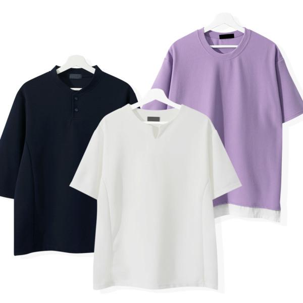 여름 7부티/남자반팔티/라운드/반팔티/남성/티셔츠 상품이미지