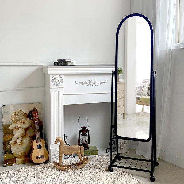 루이송 올리브 스탠드 전신거울 이동식 수납 거울 상품이미지