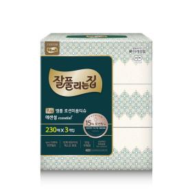 잘풀리는집 명품 로션티슈 230매 3개/휴지/화장지
