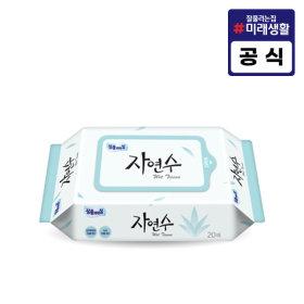 잘풀리는집 자연수 물티슈 20매/휴지/화장지/리필