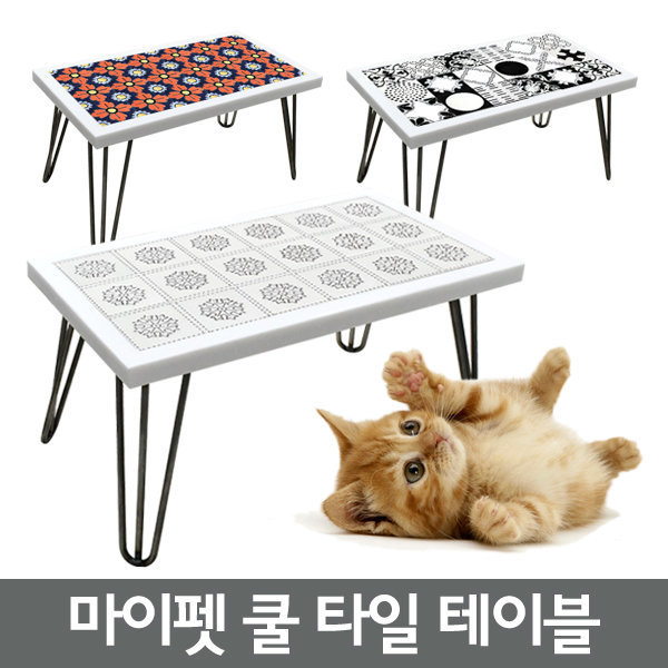 -주문제작/마이펫 쿨 타일테이블/인조대리석/좌식탁자 상품이미지