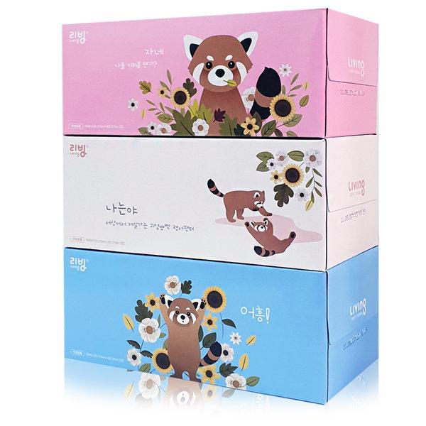 삼정펄프 리빙 각티슈 180매 24개 화장지 휴지 상품이미지