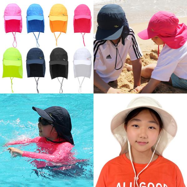 유아 아동 어린이 수영 모자/썬캡/플랩캡/자외선/차단 상품이미지