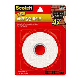 3M 스카치 초강력 VHB 양면 테이프 5140 18mm x 4m