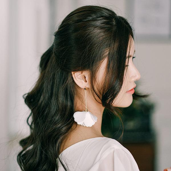 플라워 드롭 꽃잎 귀걸이 웨딩 악세사리 상품이미지
