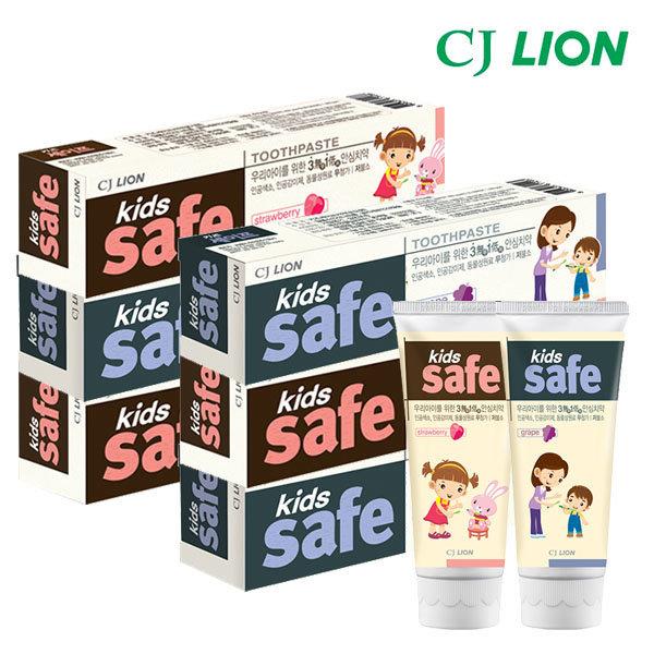 CJ키즈세이프 어린이치약 x6 /딸기 포도 /유아칫솔 상품이미지