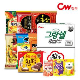 청우 사탕 2봉묶음/홍삼젤리/땅콩캬라멜/호박엿/유가