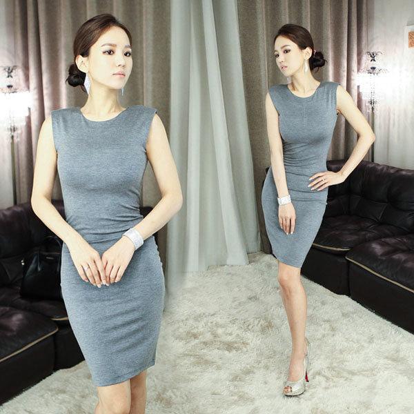섹시 원피스 롱 드레스 미니 클럽 홀복 D1026 슬림라인 상품이미지