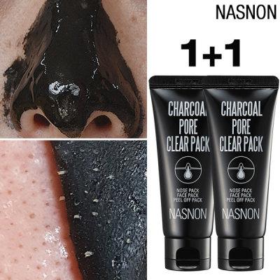 CHARCOAL PORE CLEAR PACK/pore contraction/blackhead/exfoliation/cosmetics for men