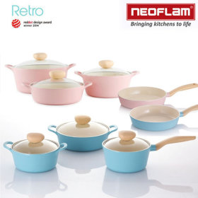 NEOFLAM retro die casting pot/frying pan/stew pot/single-handled