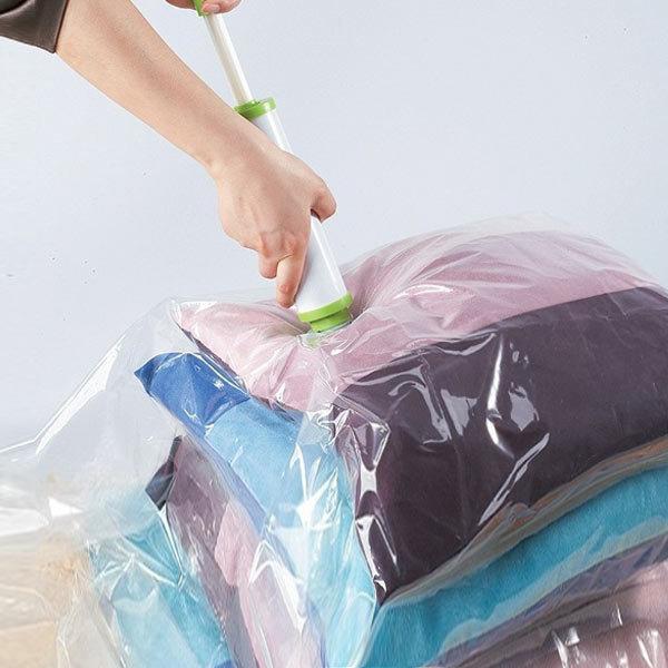 옷정리 이불 옷걸이 압축팩 여행용 진공포장기 펌프 상품이미지