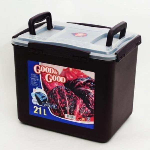 굿앤굿 직사각 밀폐용기 보관용기 쵸코 투핸들 (21L) 상품이미지
