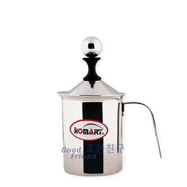 홈아트 우유거품기 350ml-우유거품기 스팀피처 우유스 상품이미지