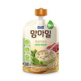 (2+1)매일유업_맘마밀안심이유식시금치와연근소고기9개월_100G