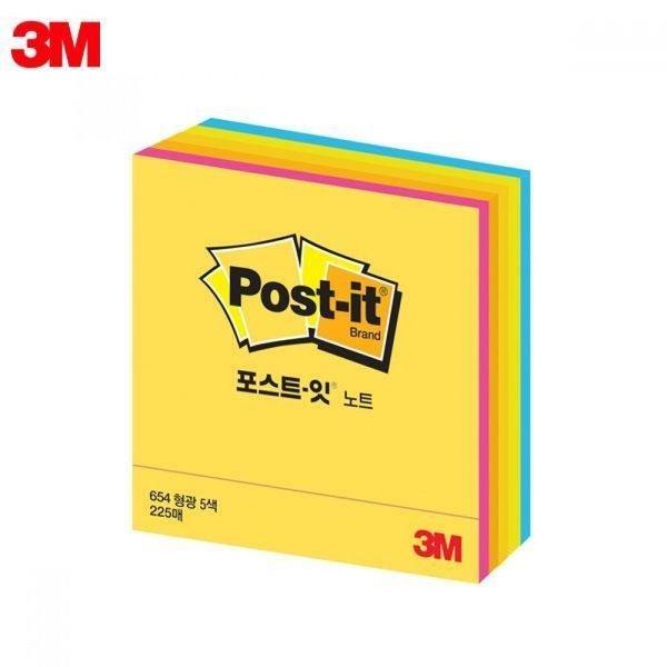 3M 큐브노트 형광 3X3 포스트잇 상품이미지