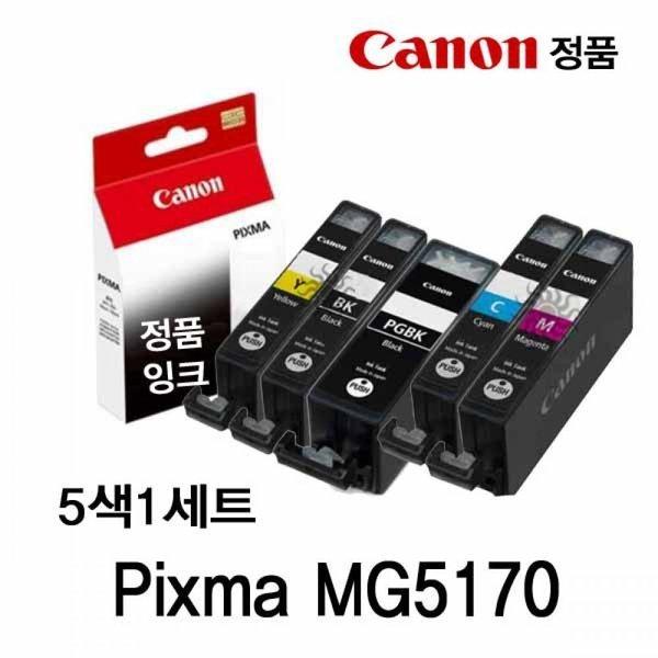 캐논 Pixma MG5170 정품잉크 5색세트 상품이미지