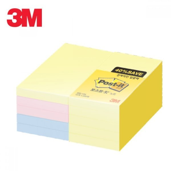 3M 포스트잇 노트 알뜰팩 656-10A 상품이미지