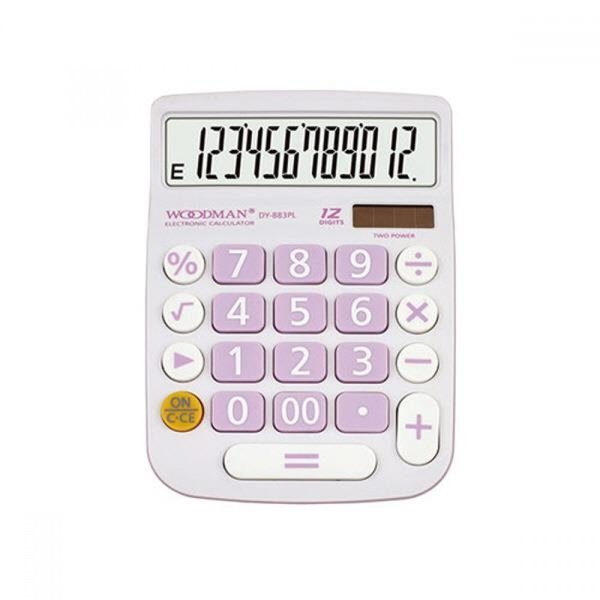 우드맨 계산기 DY-883P 핑크 12자리 MO 상품이미지