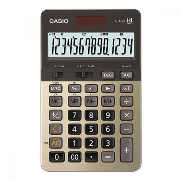 카시오 계산기 JS-40B-GD 골드 14자리 MO 상품이미지