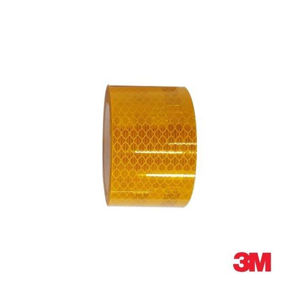 3M 프리즘형 고휘도 반사테이프 48mm x 2.5M 황색 상품이미지